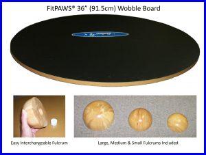 BALANCE BRÆT 90 cm WOBBLE BOARD FITPAWS - Fit For Core
